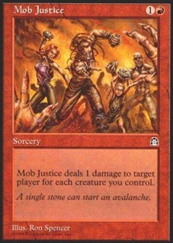 4x Mob Justice MTG Stronghold NM Magic Regular