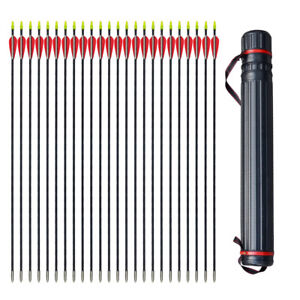 31-034-Archery-Arrow-Fiberglass-Arrows-Target-Practice-Hunting-Compound-Bow-Quiver