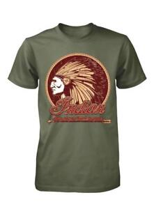 INDIAN-MOTORS-TRIBE-MOTORCYCLES-BIKERS-RIDERS-ADULT-T-SHIRT-S-XXL