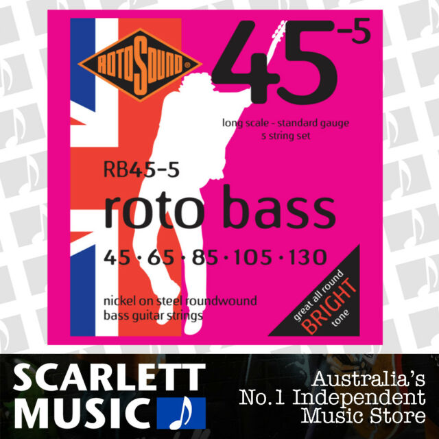 Rotosound Nickel Standard Light Gauge Roundwound Bass Strings 45 65 85 105