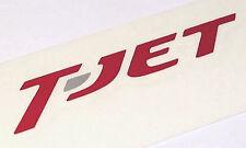 "FIAT 500 Abarth / Bravo / Tipo ""T-Jet"" Script Decal, RED - 1.4 120HP / 150HP"