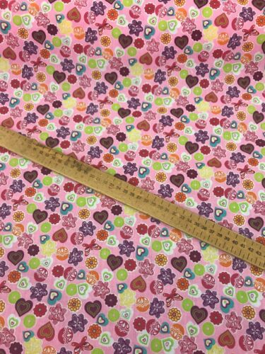 free post Washable Kids Designs Polyester Cotton Printed Fabric 115cm wide