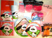 Playfull Puppy Birthday Party Supply Super Kit For 8 W/invites,balloons Plus