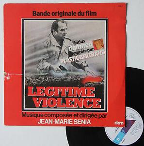 Vinyle-33T-Jean-Marie-Senia-Plastic-Bertrand-034-Legitime-violence-034-RARE