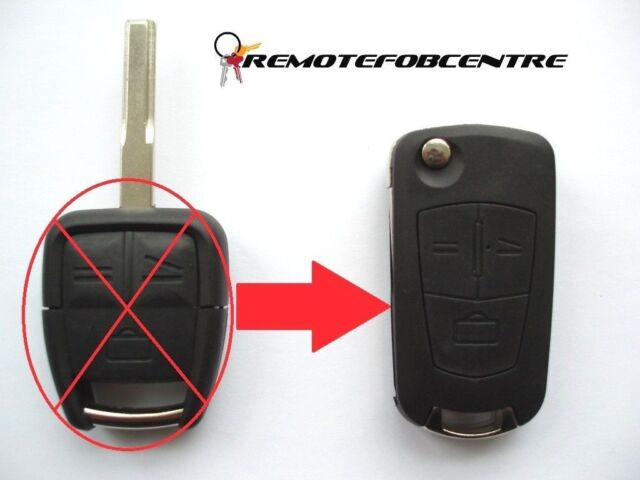 Remote Key Case Fob 3 Button Upgrade for Vauxhall Opel Vectra
