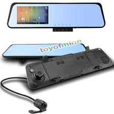 "4.3"" Car Rearview Mirror DVR Dual Lens Front + Rear 1080P + 720P Camera Recorder"
