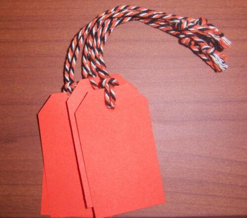 Orange Black 50 Blank Halloween Autumn Gift Hang Tags Strung