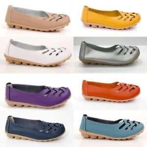Shoes-Women-039-s-leather-flats-comfortable-soft-nodule-sole-auyi-designer-Ladies