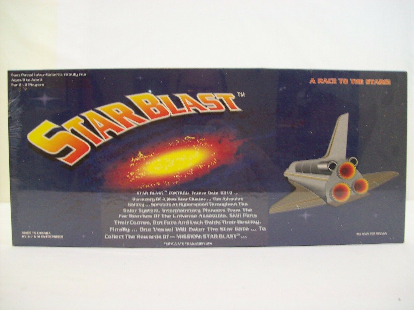 Star Blast Fast Paced Inter-Galactic Family Fun 1988 S.J & M Enterprises Signed