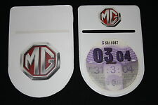 MG ZR  TAX DISC HOLDER - Self-Adhesive with Double Sided Logo!