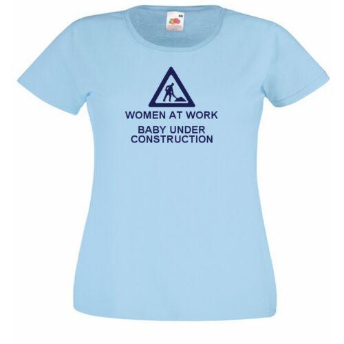 WOMAN AT WORK funny mum Ladies Fit Sky Blue T-Shirt