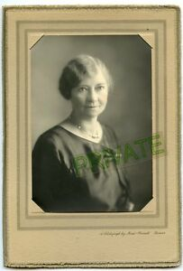Antique Studio Photo in Folder - Denver, Colorado - Mead-Pursell Studio - Lady