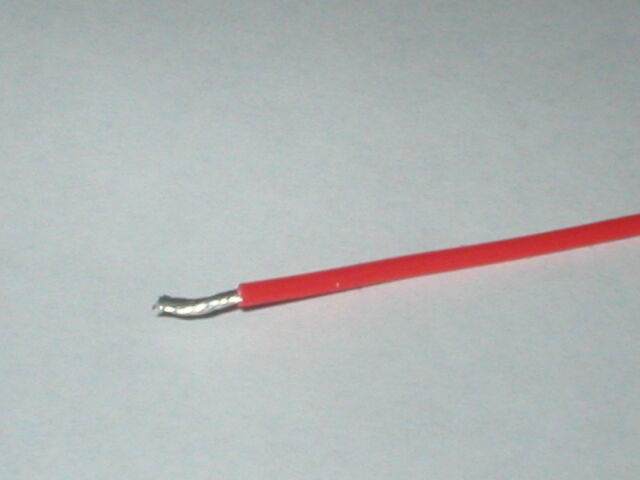 Red 19/0.3 16AWG PTFE teflon silver plated copper wire 1000V rated valve tube