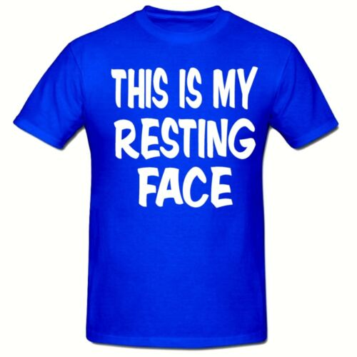 THIS IS MY RESTING FACE T SHIRT FUNNY NOVELTY MENS T SHIRT,SM-2XL