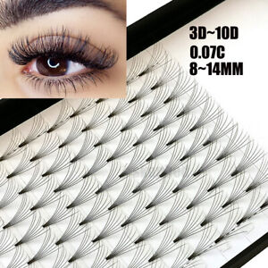 9ff78b1b44a SKONHED 12 Lines 3D~10D Russian Premade Volume Fans Eyelashes C Curl ...