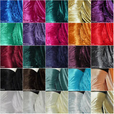 Premium Crushed Velvet Craft Fabric Velour Stretch Material 150cm Wide RM156