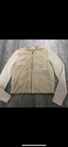 Tory Burch Wool/Suede Cardigan Blazer Size Small  - image 1