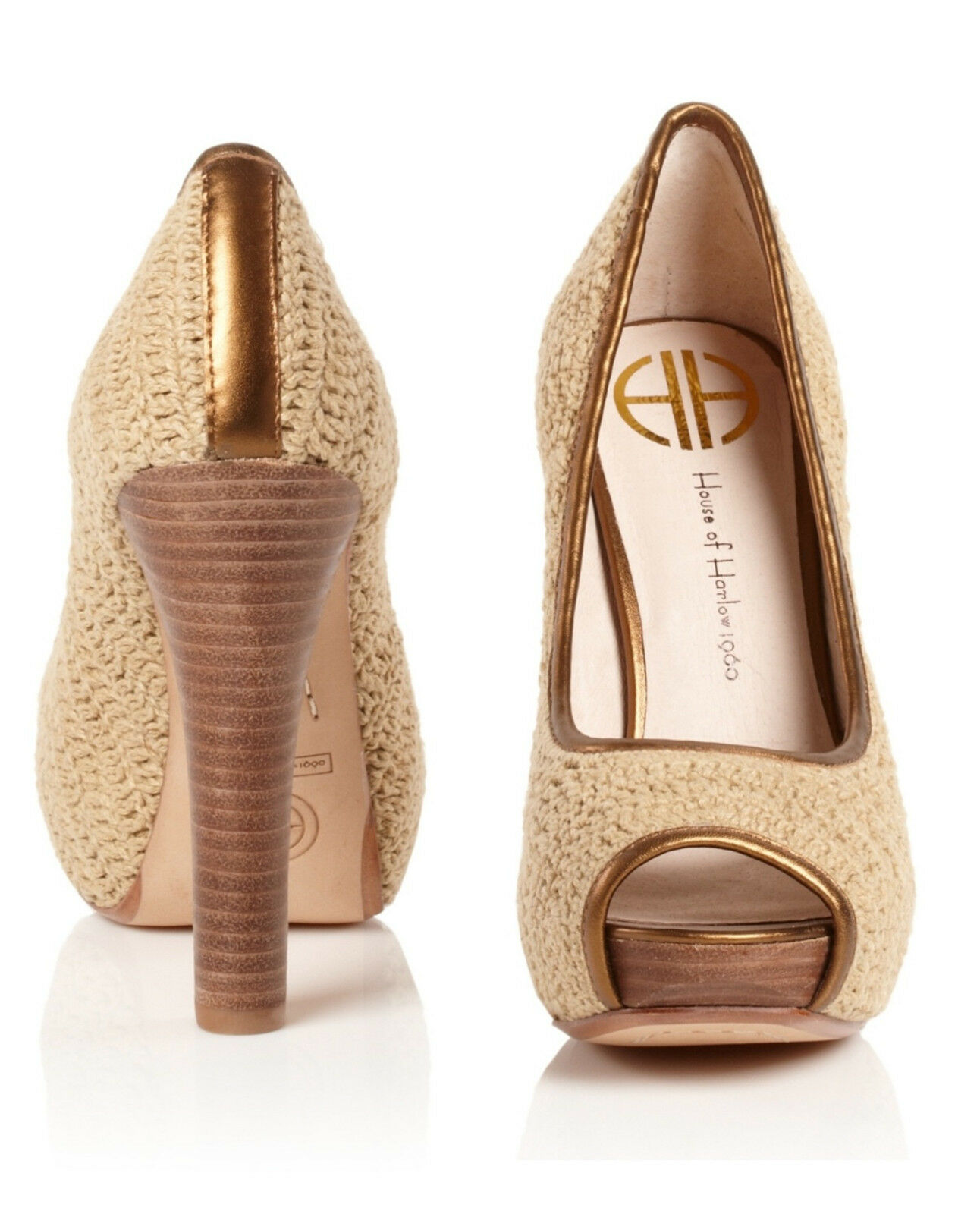 New In Box HOUSE OF HARLOW 1960 Open-Toe Pump Schuhes Heels Schuhes Pump (Größe 8.5) 225 SRP 799efb