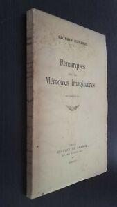 Georges-Duhamel-Observaciones-En-Las-Memorias-Imaginario-1934-Pin-Mercure-Paris