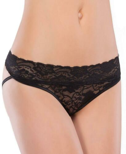 New Coquette 155X Plus Size Lace Panty With Back Straps