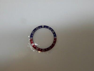 NOS Genuine Rolex Bezel Insert 315-16750-6 GMT Blue/Red Pepsi