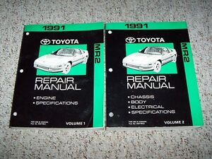 1991 toyota mr2 factory shop service repair manual turbo ebay rh ebay com 1991 toyota mr2 manual steering rack 1991 toyota mr2 manual transmission lude