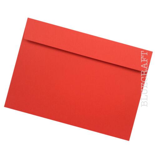 "162 x 229mm  6.37 x 9.01/"" 100 pack x C5 Pillar Box Red Luxury 120gsm Envelopes"