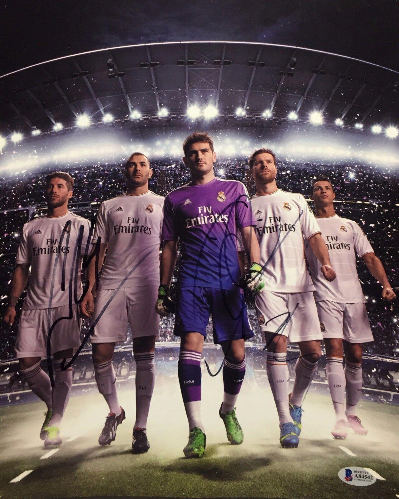 Sergio Ramos/Iker Casillas/Mesut Ozil Signed 11x14 Soccer Photo BAS Beckett 4542
