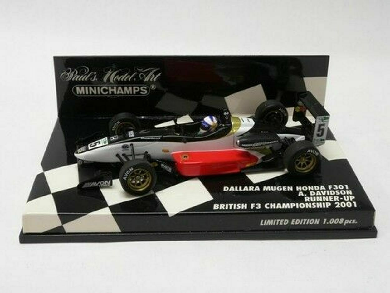 Dallara mugen honda f301 davidson runner up british 1 43 minichamps 400010305