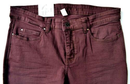 36 Nuovo Tube Jeans 32 Mac Dream Bordeaux Skinny Authentic Gr Stretch Marsala L wzp47qU