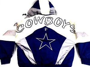 super popular 9019b 01538 Details about Dallas Cowboys Jacket Vintage Cowboys Jacket Puffy Jacket NFL  Pro Player Large