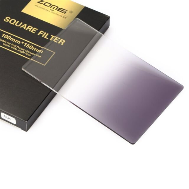 Zomei 150mm x 100mm Neutral Density Gray G.ND4 square filter for Cokin Z Series