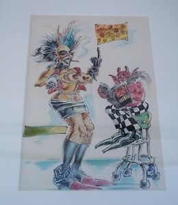 VINTAGE S CLAY WILSON ORIGINAL PAINTED ART UNDERGROUND COMIC CHECKERED DEMON 82