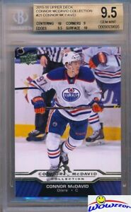 2015-2016-UD-Connor-McDavid-Collection-21-ROOKIE-BGS-9-5-GEM-MINT-Oilers
