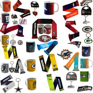 NFL-football-Super-Bowl-equipe-Logo-Mug-echarpe-Porte-cles-Badge-Cadeau-Selection