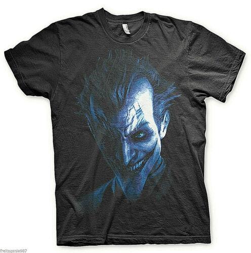BATMAN ARKHAM CITY JOKER T-Shirt  camiseta cotton officially licensed