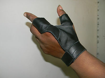 Longbow bow-hand 2 Finger glove New-Archery, Bow Hunting,Hunting shooting Gloves