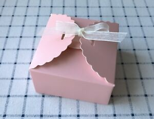 10x Pink Favour Boxes Baby Shower Girl S Birthday Valentine S Day