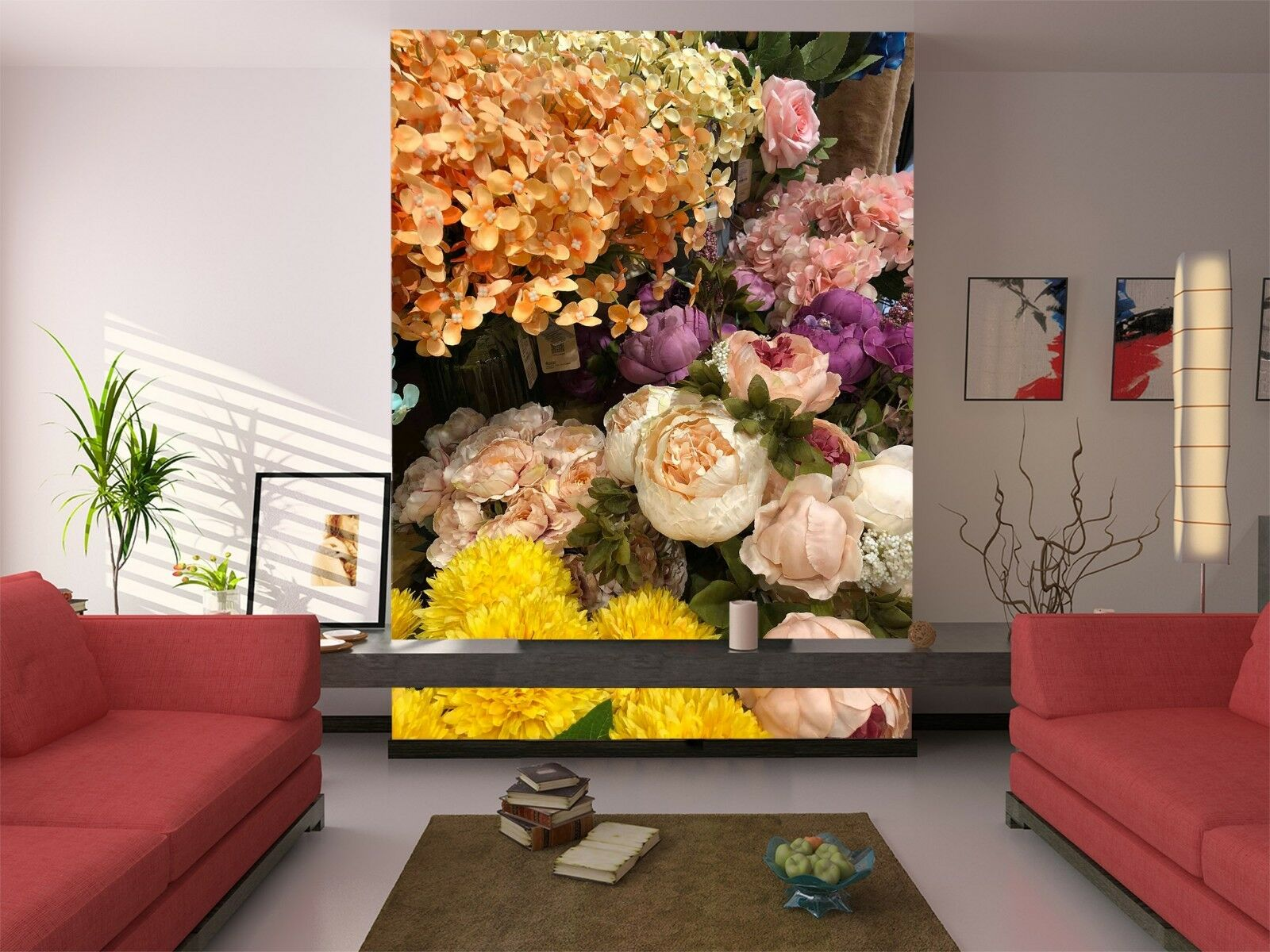 3D Home Flowers Plant 782 Wallpaper Mural Wall Print Wall Wallpaper Murals US