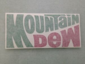 NEW IN GREEN /& RED VINYL STICKER MOUNTAIN DEW