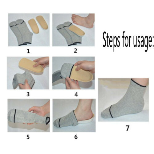 In-sock Arch Support Height Increase Heel Lift Pads Taller Insoles Inner sole U4