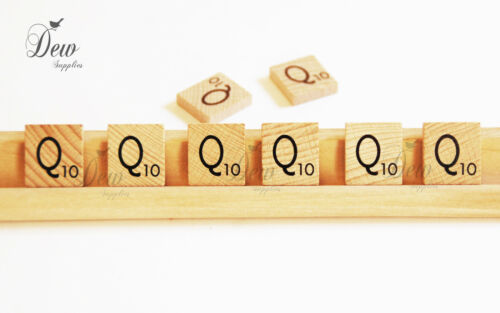 8 x Scrabble Tiles letter Q wooden tile Weddings Craft scrap booking