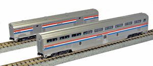 Kato-N-Scale-Amtrak-Phase-III-2-Car-Passenger-Baggage-Car-Set-1067122