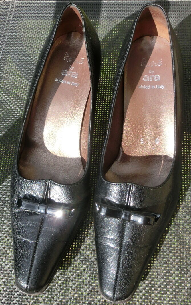 Rene by ARA Pumps Schuhe Gr. 38 schwarz    Pumps aus Glattleder Made in  0977e0