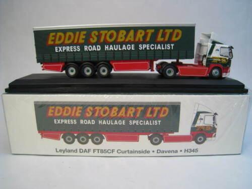 Leyland DAF ft85cf curtainside davena h345 Eddie Stobart atlas Edition 1:76