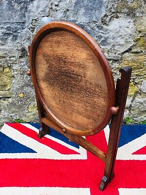 "Antiques ""revertable"" Art Deco Patented Oak Reversible Folding Card Tea Table p4925 Tables"