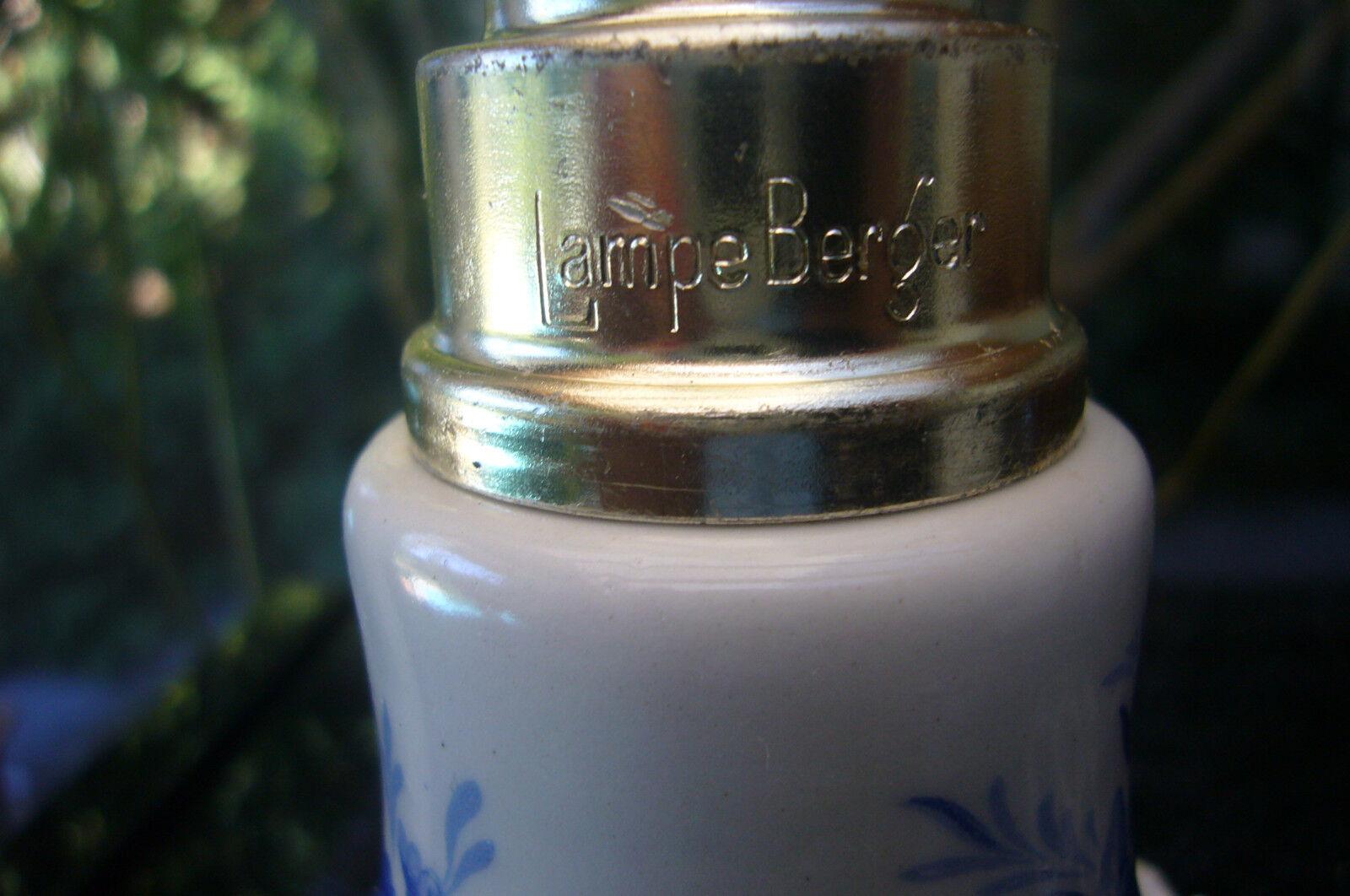 ANTIQUE LAMPE BERGER  PARIS MADE IN FRANCE       CAPODIMONTE Blau    92621c
