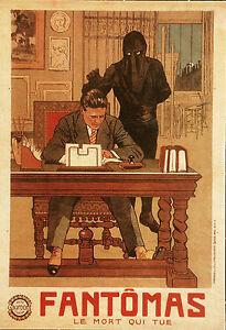 """""""FANTOMAS """"LE MORT QUI TUE""""(L. FEUILLADE 1913)"""" Diapositive de presse originale qbEtsL4s-07210835-990205613"""