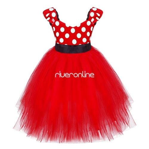 Baby Girls Kids Mouse Tutu Tulle Skirt Party Mini Dress Party Halloween Costume