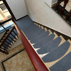 Details About 15 PCS Self Adhesive Indoor Stair Carpet Stair Pad Step Pad  Solid Wood Stair Pad